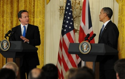 Prime Minister Cameron and President Obama at the White House