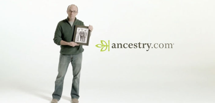 An advertisement for Ancestry.com
