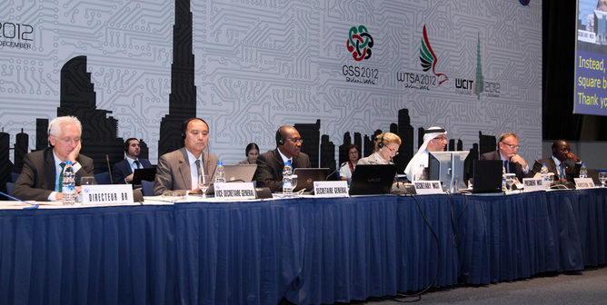 World Conference on International Telecommunications (WCIT) meeting in Dubai