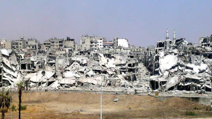 The ongoing civil war has caused much destruction across Syria