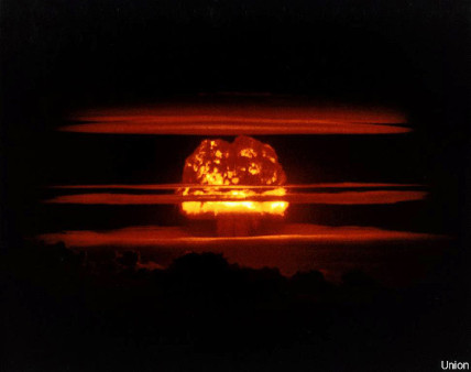 """Mushroom cloud"" from the Castle Union nuclear weapons test"
