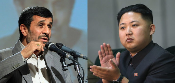Mahmoud Ahmadinejad and Kim Jong Un