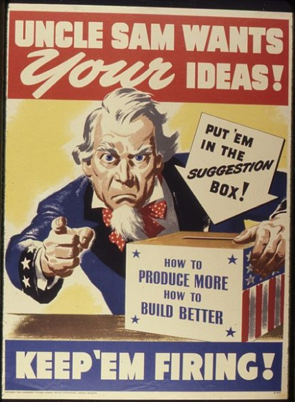 US: Uncle Sam wants your ideas