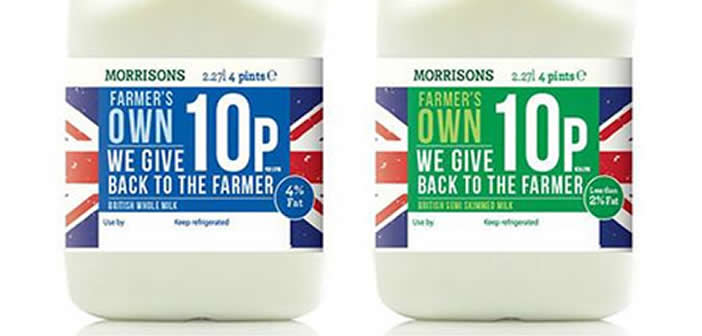 """Morrisons announces """"Milk for Farmers"""" to offer dairy farmers a fairer deal"""