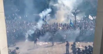 Explosion at protest in Kiev